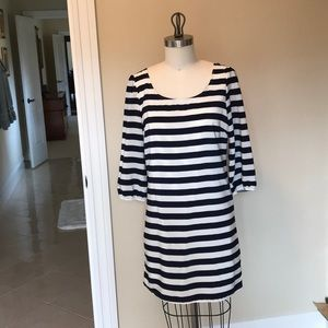 Adorable Navy and White striped dress! Size M